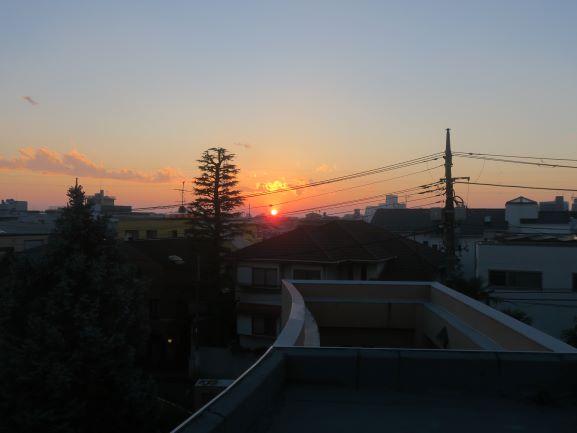 夕日がきれい 電線が汚い④